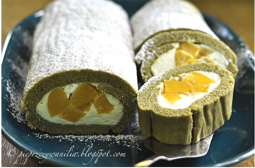 Matcha roll cake, czyli zielona roladka