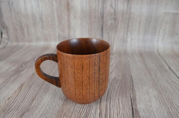 japoński drewniany kubek, kubek drewniany