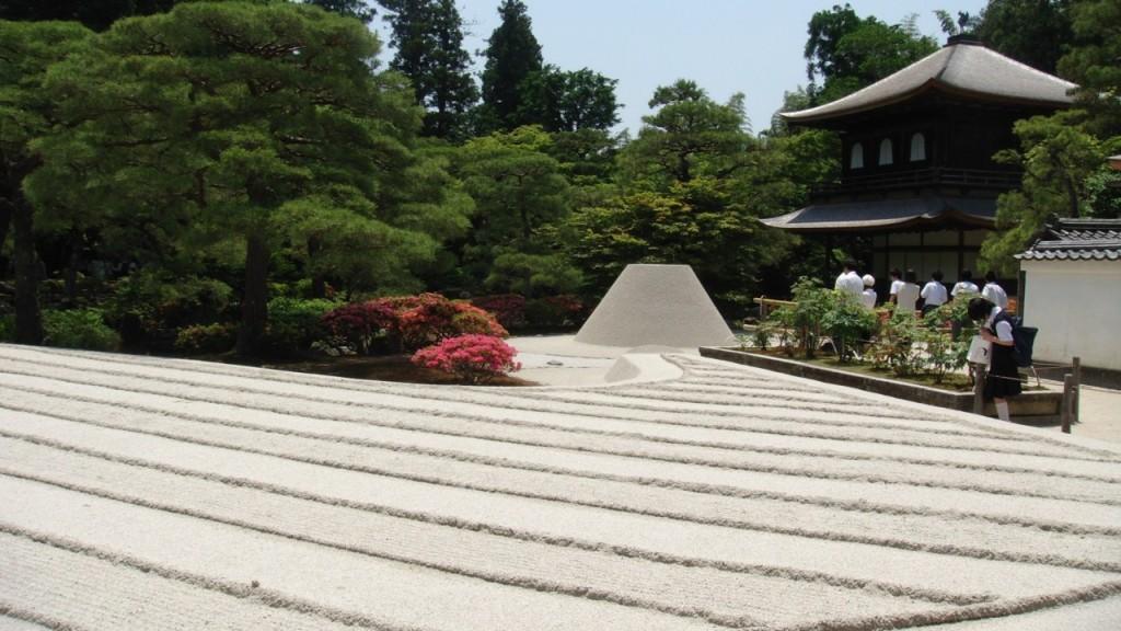 Ginkaku-ji and zen garden