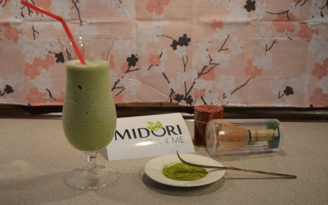 Japanese matcha milkshake