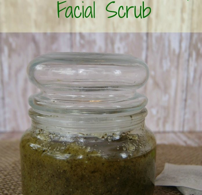 Peeling do twarzy z zielonej herbaty i miodu