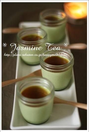 Matcha Pudding z zieloną herbatą