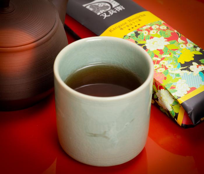 zielona herbata karigane, karigane hojicha