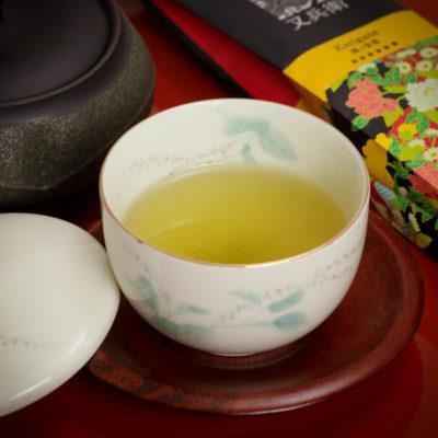 zielona herbata karigane super premium, karigane super premium
