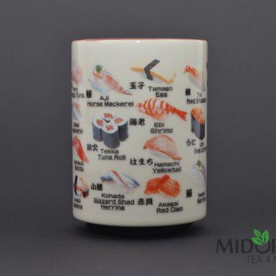 kubek sushi, kubek do herbaty