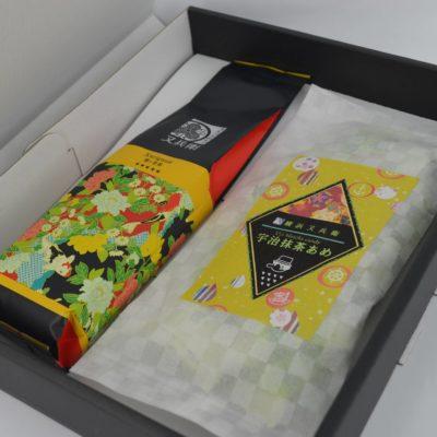 cukierki z zieloną herbatą, matcha candy, japoński prezent, haft temari