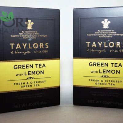 zielona herbata z cytryną, herbata z cytryną, Herbata Taylors of Harrogate, herbata cytrynowa, zielona herbata cytrynowa, herbata cytrynowa taylors