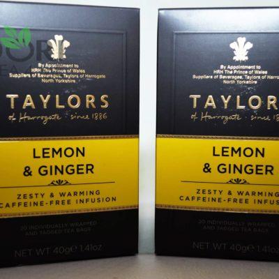 Herbata z cytryną i imbirem, Herbata Taylors of Harrogate, herbata imbirowa, czarna herbata z imbirem, czarna herbata z cytryną