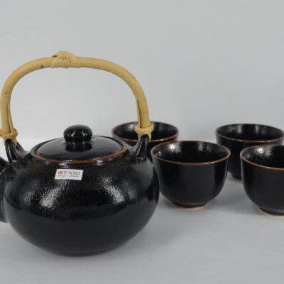 zestaw do parzenia herbaty, komplet do parzenia herbaty, japoński dzbanek, dzbanek i czarki
