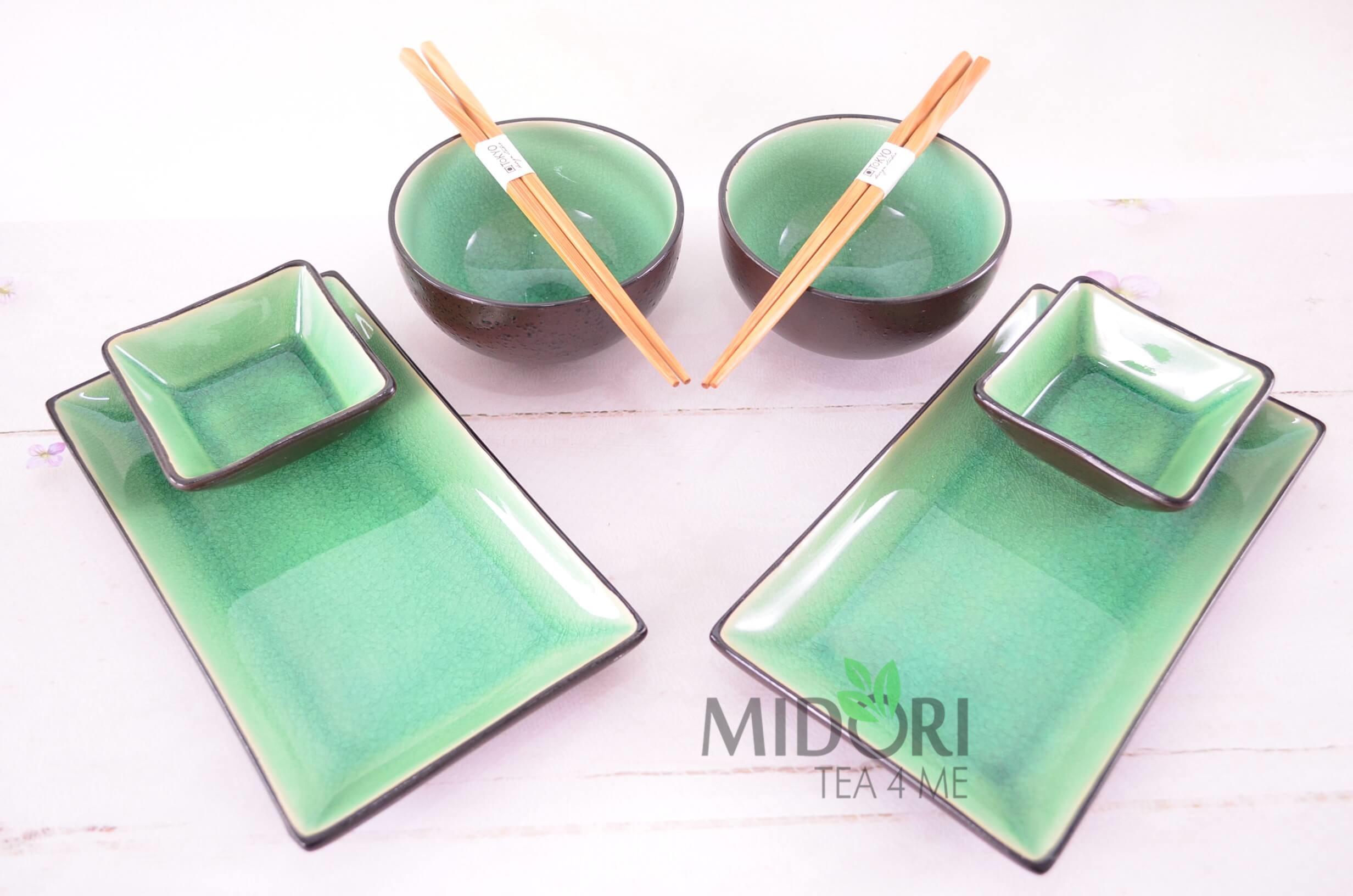 zestaw do sushi zielony, zestaw do sushi, komplet do sushi