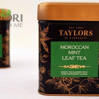 Zielona herbata liściasta z miętą, Moroccan Mint, herbata Taylors of Harrogate, HERBATA PO MAROKAŃSKU, zielona herbata miętowa