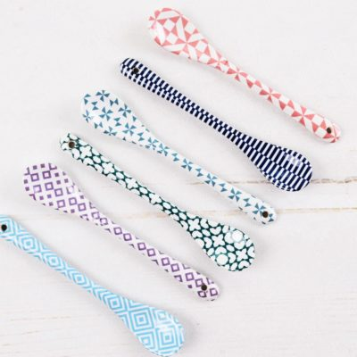 łyżeczki porcelanowe, łyżeczki ceramiczne kolorowe, łyżeczki ceramiczne, łyżeczki tokyo design