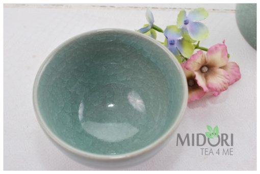zielona czarka, porcelanowa czarka