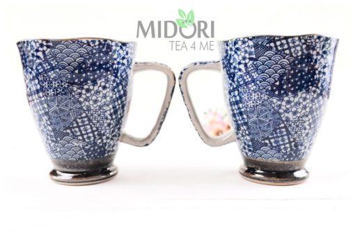 porcelanowy kubek, porcelanowy kubek niebieski, kubek tokyo design
