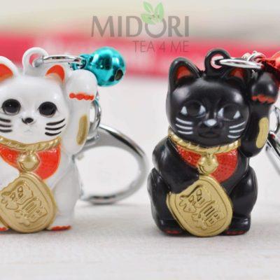 breloczek maneki neko, maneki neko, breloczek maneki, japoński kot szczęścia