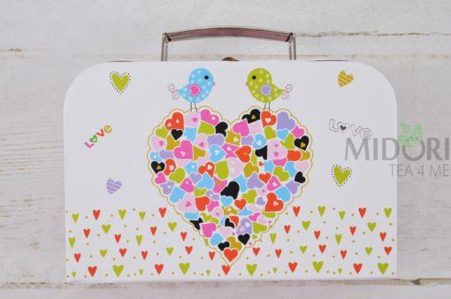 Kubki na Walentynki, prezent dla dziewczynki, Kubki w walizce, kubki na prezent, kubki w serduszka, kubeczki na prezent, kubki dla zakochanych