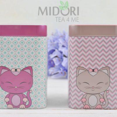 puszki miss miew, puszki na herbatę, puszki na kawę, puszki na słodycze, metalowe puszki na herbatę