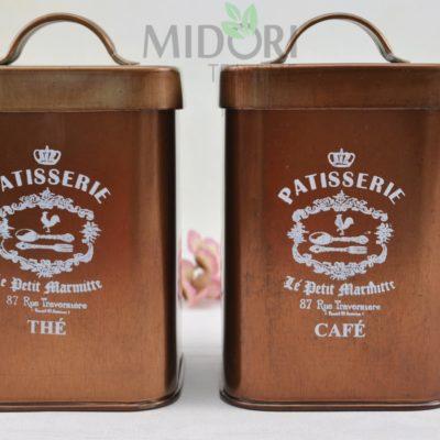 metalowe puszki vintage, puszki vintage, puszki na herbatę vintage