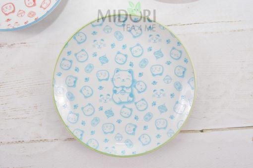 talerze w kotki, lucky cat plate, talerze tokyo design studio