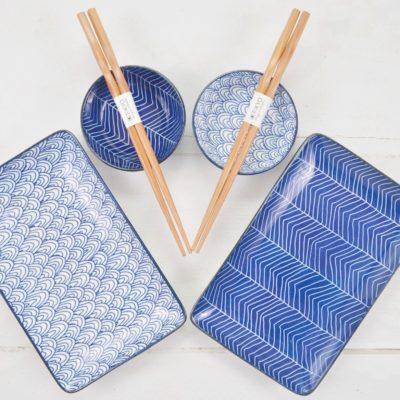 zestaw do sushi, zestaw do sushi niebieski, zestaw do sushi tokyo design studio