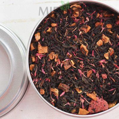 Czarna herbata o smaku malinowo-mufinowym, mieszanka czarnej herbaty