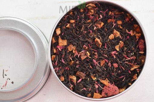 Czarna herbata o smaku malinowo-muffinowym, mieszanka czarnej herbaty