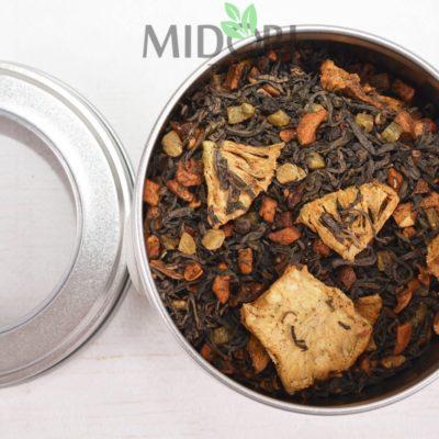 Czarna herbata o smaku grillowanego ananasa