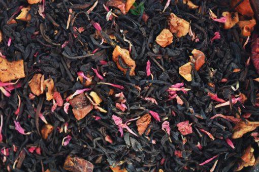 Czarna herbata malinowo-muffinowa, herbata malinowa, herbata muffinowa, herbata owocowa, czarna herbata z owocami, herbata z owocami