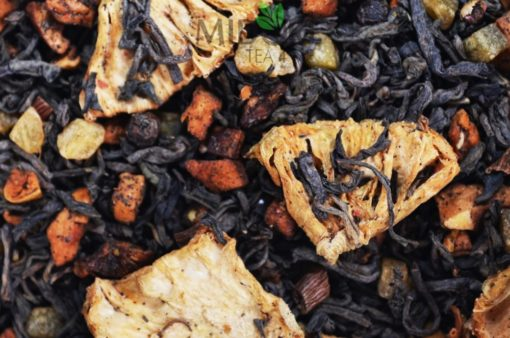 Czarna herbata o smaku grillowanego ananasa, herbata ananasowa, HERBATA Z ANANASEM, czarna herbata z ananasem, czarna herbata owocowa, sklep z herbatą