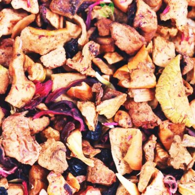 Herbata owocowa z rabarbarem, owocowa herbata rabarbarowa, herbata rabarbarowa, mieszanka owocowa, owocowa herbata, herbata z rabarbarem