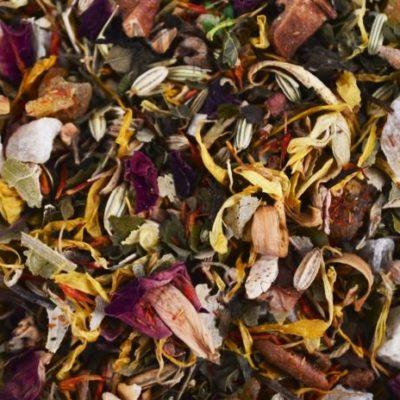 herbata ziołowa ananas z mango, Herb tea blend Sunny Herbs, herbatka ziołowa, herbata z ananasem, mieszanka ziołowa, herbata z melisą