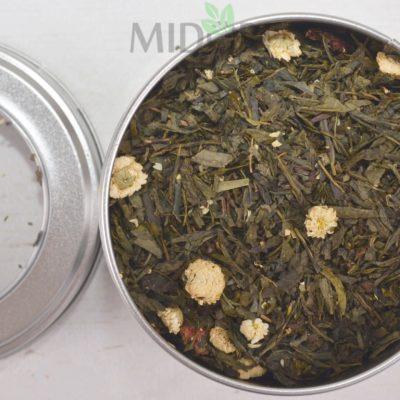 Mieszanka białej i zielonej herbaty o smaku waniliowo-jaśminowym, Premium green and white tea blend Elegance (Vanilla-Jasmine), Premium green and white