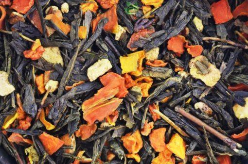 Zielona herbata z dynią, herbata z pomarańczą, herbata dyniowa, zielona herbata owocowa, owocowa herbata, sklep z herbatą
