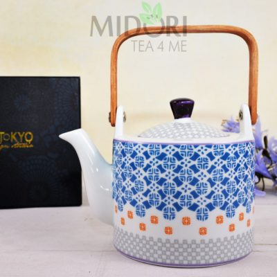 Baobab Teapot Blue Cross