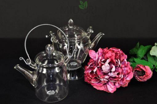 dzbanek do herbat kwitnących, szklany dzbanek,