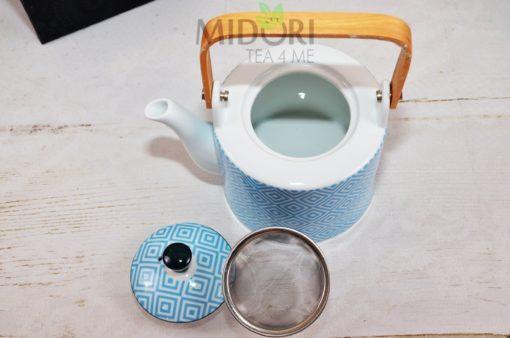 Geo Electric Teapot light blue