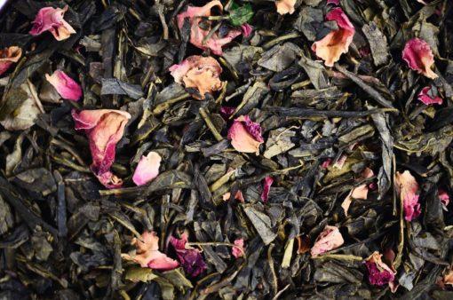 Sencha sakura, Green tea Sencha Sakura, sencha wisniowa, zielona herbata wiśniowa, zielona herbata z dodatkami, zielona herbata sakura, herbata wiśniowa
