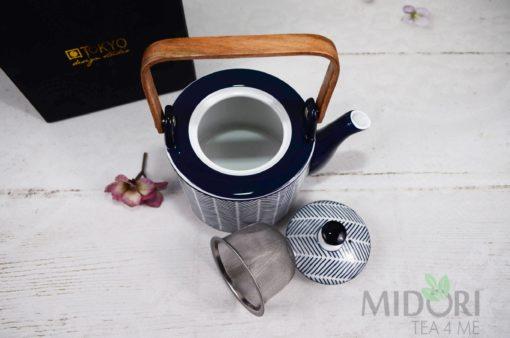 Imbryk Blue De'NImes, porcelana japońska, ceramika japońska, japońska ceramika,