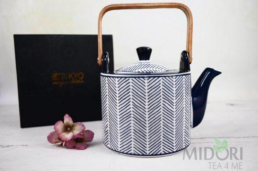 Imbryk Bleu De'NImes, porcelana japońska, ceramika japońska, japońska ceramika, dzbanek tokyo design studio, porcelanowy dzbanek, Dzbanek Bleu De'NImes