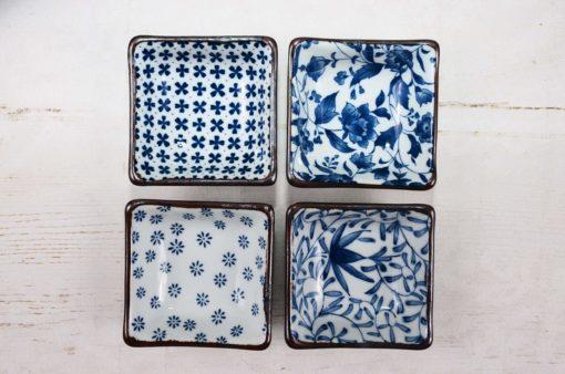 Kwadratowe miseczki do dipów, Square Bowl Set, Tokyo Design Studio, sklep z herbatą, sklep z ceramiką, zielona herbata, sklep z zieloną herbatą, matcha, sklep matcha