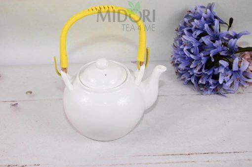 Biały Imbryk Tokyo Design Studio, White Serie Tea Pot, biały imbryk oriental selection, biały czajnik oriental selection