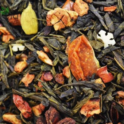 Zielona herbata Mandarynka z Kardamonem, mandarynka z kardamonem, herbata z mandarynką, mandarynka kardamon, herbata mandarynkowa, zimowa herbata