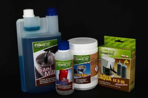 Środek do czyszczenia spieniaczy do mleka, Preparat do usuwania kamienia Axor, chemia do ekspresów, czyszczenie ekspresów, axor, chemia do ekspresów do kawy, Axor Coffee Maker Cleaner, środek do czyszczenia ekspresów, chemia do ekspresów, Filtr do zmiękczania wody w ekspresach AQUA AX D-80, chemia do ekspresów