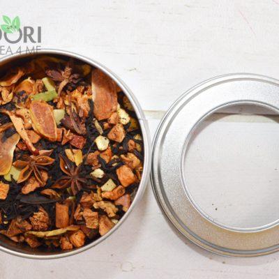 herbata mandarynkowo-piernikowa, Czarna herbata mandarynkowo-piernikowa, zimowa herbata, herbata zimowa, herbata na zimę, herbata z cynamonem, gwiazdkowa herbata