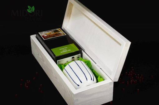 zielona herbata jaśminowa, zestaw prezentowy, czarka do herbaty
