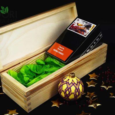 prezent na gwiazdkę, upominek na gwiazdkę, herbata na święta, świąteczna herbata, bombka temari, haft temari, japońska bombka,
