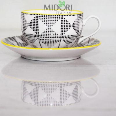Porcelanowa filiżanka ze spodkiem Marocco Modern, Porcelanowa filiżanka ze spodkiem, Marocco Modern, porcelanowy komplet do kawy, porcelanowy komplet do herbaty, porcelanowa filiżanka