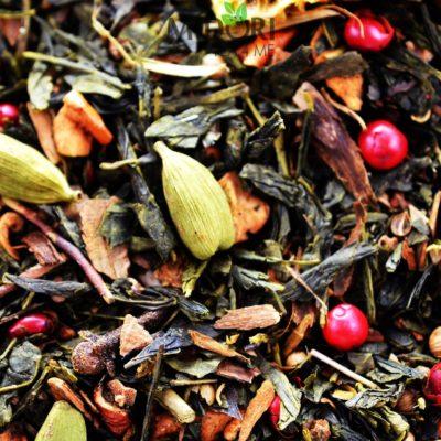 Sencha Orange Biscuits, Zielona herbata z cynamonem, kardamonem i pieprzem, ogrzewająca herbata na zimę, Zielona herbata Sencha Orange Biscuits