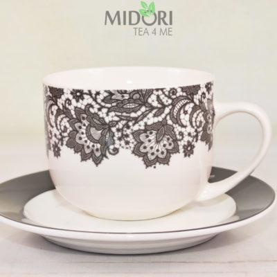 Duża filiżanka Bianca Jumbo Veroni, duża porcelanowa filiżanka, filiżanka duża do herbaty, filiżanka na prezent, duża filiżanka na prezent