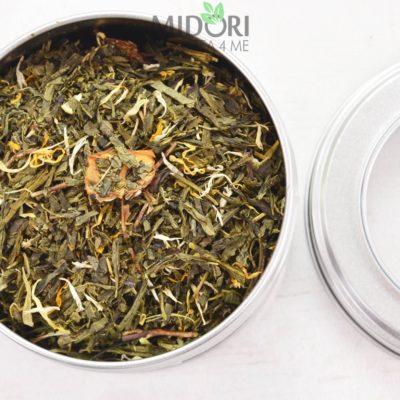 Zielona herbata mango-mirabelka, Mangobelle, zielona herbata mirabelkowa, mirabelkowa herbata, mirabelka mango, mango mirabelka